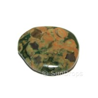 Rainforest Rhyolite Flat Stone