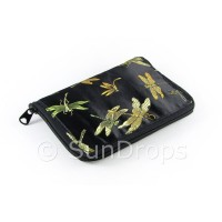 Springtime Dragonfly Eco-Friendly Shopping Bag - Black