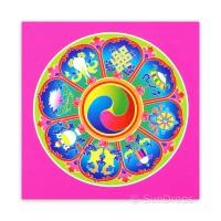 Greeting Card - Eight Auspicious Symbols