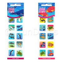 Sticker Stamps Value Pack - Ocean World and Tropical Oceans