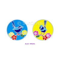 Sunlight Window Sticker - Blue Wrens