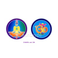 Sunlight Window Sticker - Chakra and Om