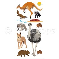 Australian Wall Art Stickers - Aussie Animals