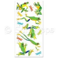 Australian Wall Art Stickers - Frogs and Dragonflies