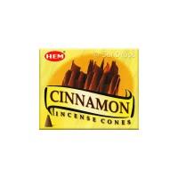 Hem Incense Cones - Cinnamon - 1 Packet / 10 Cones