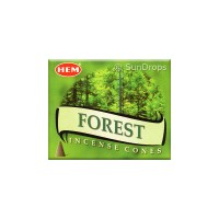 Hem Incense Cones - Forest - 1 Packet / 10 Cones
