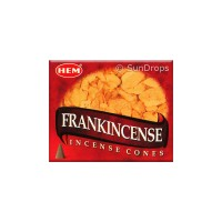 Hem Incense Cones - Frankincense - 1 Packet / 10 Cones