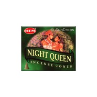 Hem Incense Cones - Night Queen - 1 Packet / 10 Cones