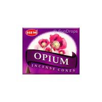 Hem Incense Cones - Opium - 1 Packet / 10 Cones