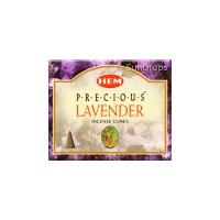 Hem Incense Cones - Precious Lavender - 1 Packet / 10 Cones