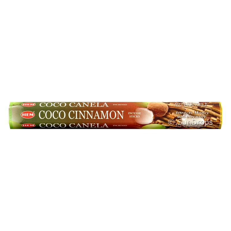Hem Incense Sticks - Coco Cinnamon - 1 Packet / 20 Sticks