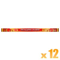 Hem Incense Sticks - Dragons Blood Red - 12 Packets / 96 Sticks