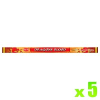 Hem Incense Sticks - Dragons Blood Red - 5 Packets / 40 Sticks