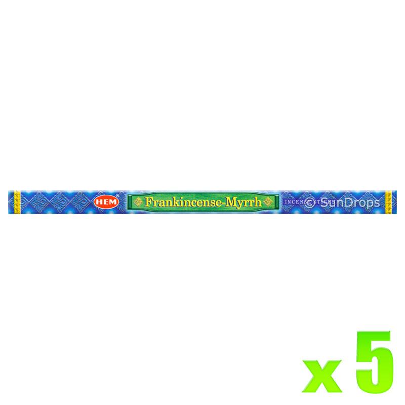 Hem Incense Sticks - Frankincense Myrrh - 5 Packets / 40 Sticks