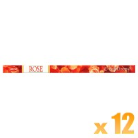 Hem Incense Sticks - Precious Rose - 12 Packets / 96 Sticks