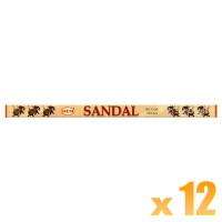 Hem Incense Sticks - Sandal - 12 Packets / 96 Sticks