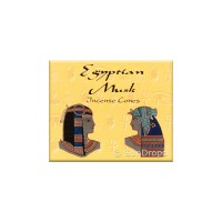 Kamini Incense Cones - Egyptian Musk - 1 Packet / 10 Cones