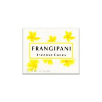 Kamini Incense Cones - Frangipani - 1 Packet / 10 Cones