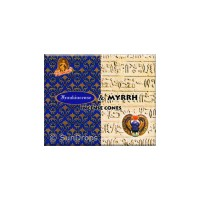 Kamini Incense Cones - Frankincense Myrrh - 1 Packet / 10 Cones
