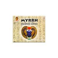 Kamini Incense Cones - Myrrh - 1 Packet / 10 Cones