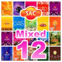 Mixed Sandesh Incense Cones - 12 Packets / 120 Cones