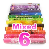 Mixed Hex Packs - All Brands - 6 Packets / 120 Sticks