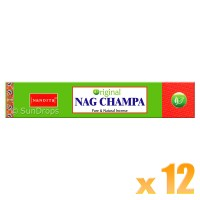 Nandita Incense Sticks - Original Nag Champa - 15g x 12