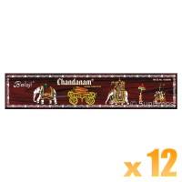 Balaji Incense Sticks - Chandanam - 12 Packets / 180 Sticks