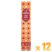 Hari Darshan Noor Incense - Oud Ruby - 15g x 12