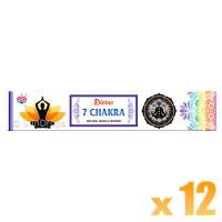 Ambika Incense Sticks - Divine 7 Chakra - 12 Packets / 180 Sticks