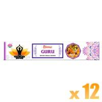 Ambika Incense Sticks - Divine Guru - 12 Packets / 180 Sticks