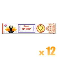 Ambika Incense Sticks - Divine Mantra - 12 Packets / 180 Sticks