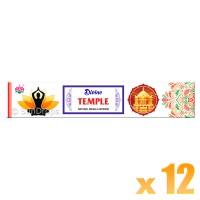 Ambika Incense Sticks - Divine Temple - 12 Packets / 180 Sticks
