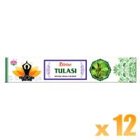 Ambika Incense Sticks - Divine Tulasi - 12 Packets / 180 Sticks