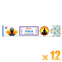 Ambika Incense Sticks - Divine Yoga - 12 Packets / 180 Sticks