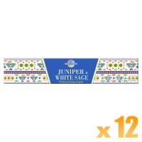 Sacred Elements Incense Smudge Sticks - Juniper & White Sage - 15g x 12