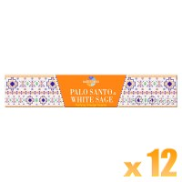 Sacred Elements Incense Smudge Sticks - Palo Santo & White Sage - 15g x 12