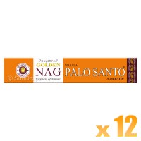 Vijayshree Incense Sticks - Golden Nag Palo Santo - 15g x 12