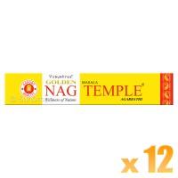 Vijayshree Incense Sticks - Golden Nag Temple - 15g x 12