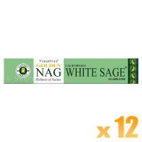 Vijayshree Incense Sticks - Golden Nag White Sage - 15g x 12