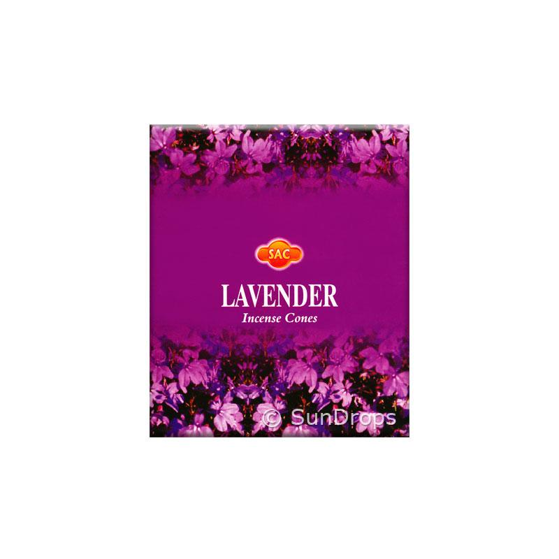 Sandesh Incense Cones - Lavender - 1 Packet / 10 Cones
