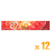 Sandesh Incense Sticks - Divine Natural Flora - Love - 15g x 12