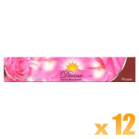 Sandesh Incense Sticks - Divine Natural Flora - Rose - 15g x 12