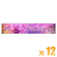 Sandesh Incense Sticks - Good Energy - 15g x 12