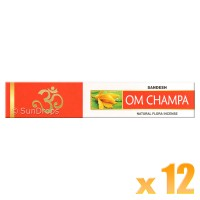 Sandesh Incense Sticks - Om Champa - 15g x 12