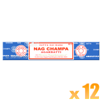 Satya Nag Champa Incense Sticks - Bulk Pack - 15g x 12