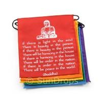 Rainbow Buddha Affirmation / Peace Flags