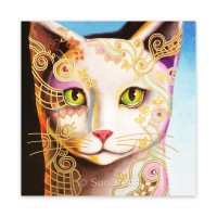 Triskele Art Card - Adorned Cat