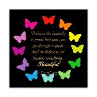 Triskele Art Card - Affirmation Butterflies