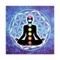 Triskele Art Card - Chakra Meditation